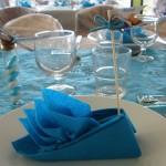 Pliage serviette - Marque place